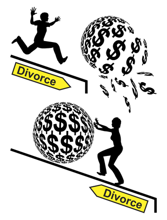 financial burden: Divorce Winner and Loser. When two people separate one might loosely, one might win