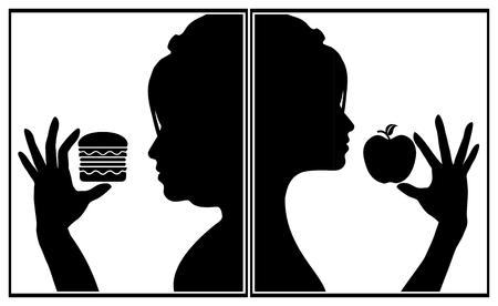 habitos saludables: Hábitos alimentarios que afectan a la apariencia. El tipo de alimentos que come, el tipo de mirada que usted desea conseguir