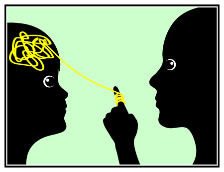 controlling: Parental Mind Control. Concept sign of a controlling parent in Early Childhood Education