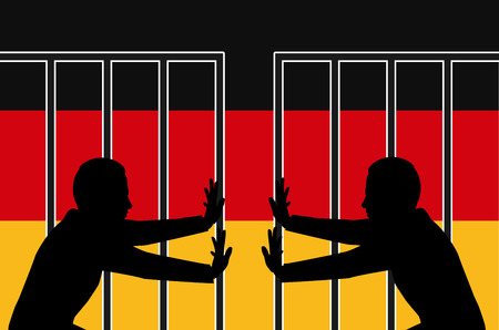 unwelcome: German Government ends the open door policy to refugees Stock Photo