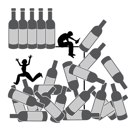 the spouse: Alcohol destroys relationship. Alcoholic spouse is killing his marriage by excessive alcohol consumption