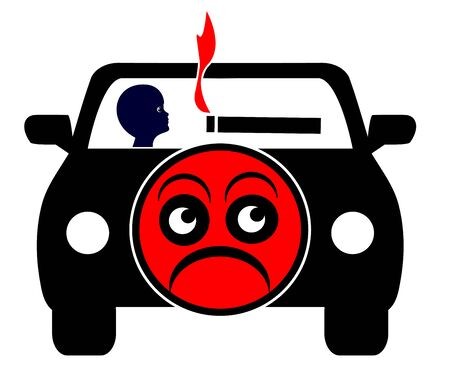 underage: No Smoking with kids in private car. Appeal to Stop Smoking When traveling with minors due to secondhand smoke