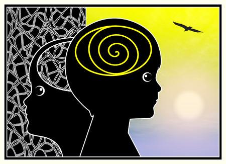 psicologia infantil: La meditaci�n de la Infancia. Curaci�n trastorno como el autismo o TDAH mentalmente con la meditaci�n