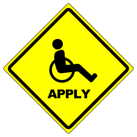encourage: Hiring People with Disabilities. Concept sign to encourage and hint job seekers with disabilities to apply Stock Photo