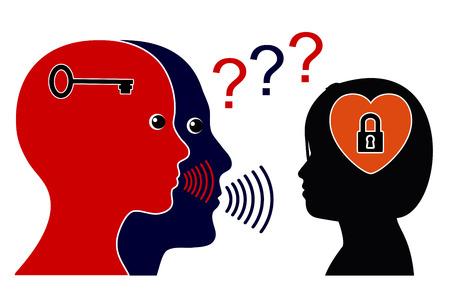pubertad: Desglose de la Comunicación en la pubertad. Juvenil Obstinado rechaza para comunicarse con sus padres Foto de archivo