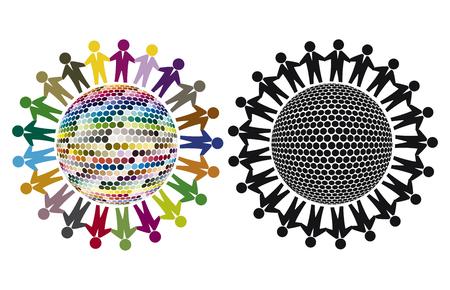 diversidad: La homogeneidad y la diversidad. Muestra del concepto que muestra la diferencia entre la uniformidad y la diversidad