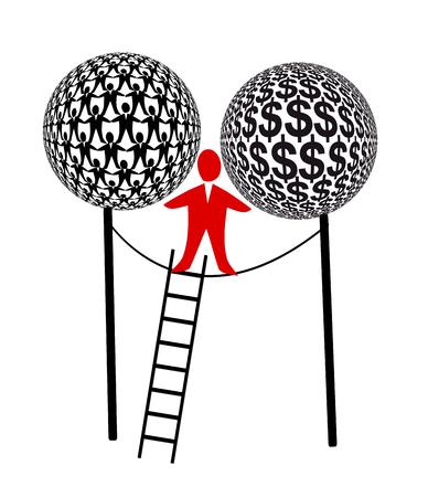 recursos financieros: La carga de ser el jefe. Director Ejecutivo como bailarina de cuerda Encontrar el equilibrio entre los recursos humanos y financieros