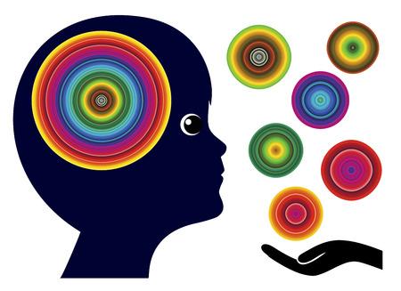psicologia infantil: Enseñar a los niños el mundo de los colores. Los colores juegan un papel importante en la Educación Infantil en el desarrollo de habilidades artísticas y sentidos