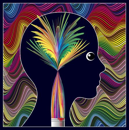 La guérison par Arts. Art-thérapie pour surmonter les problèmes mentaux et d'enrichir la personnalité