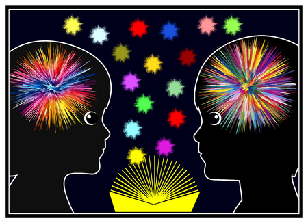 early childhood education: Brain activity while reading. Books light up the mind of children in Early Childhood Education