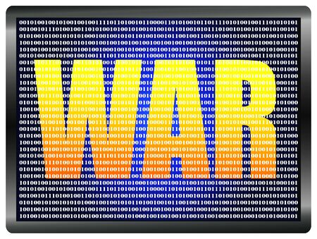 cyber warfare: Declaration of cyberwar. Concept sign of the threat of cyber warfare
