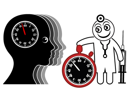 time pressure: Time Pressure for Doctor and Patient. Physician rushes the patient out of the medical office