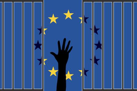 falling apart: EU falling apart. The refugee crisis is threatening the European Union