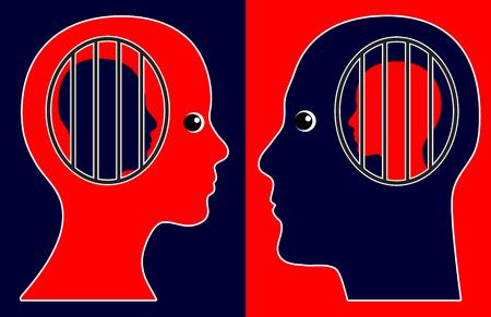 desconfianza: La desconfianza y el control mutuo. Muestra del concepto de los celos civil y el miedo de la pérdida