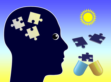 illness: Medication for Memory Loss. Concept sign of pills fighting dementia