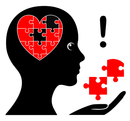 psique: Aprende a amarte a ti mismo primero. Mujer está trabajando en aceptar y apreciar a sí misma