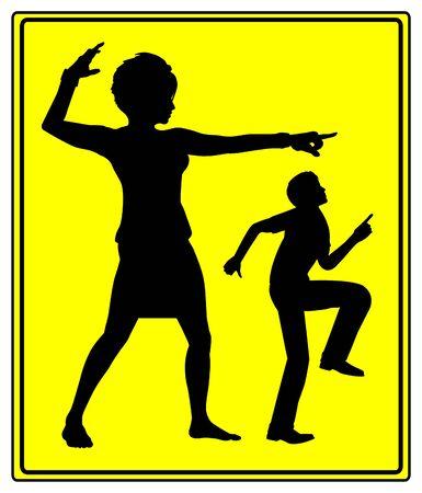 defensa personal: Defensa Personal para Mujeres. Protección contra el auto física y verbal del atacante masculina en asociación o en el trabajo Foto de archivo