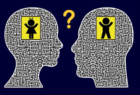 psicologia infantil: Busca el Niño Interior. Muestra del concepto de despertar y la liberación del ser interior como una terapia emocional