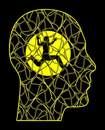 ansiedad: Ataques de pánico. Paciente con trastorno de ansiedad o trastorno mental