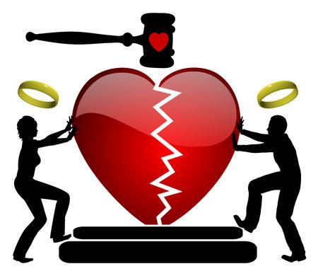 Réconciliation en droit de la famille. Femme et mari, séparé légalement, reprendre leur relation conjugale au tribunal
