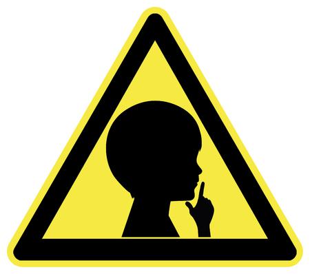 guardar silencio: Mantenga la muestra silenciosa con el ni�o. Llamado a respetar a los que no puede soportar el ruido fuerte, como en el hospital o en la iglesia