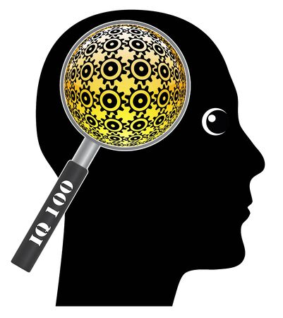 iq: The IQ test. Humorous concept sign of measuring the brainpower of a person