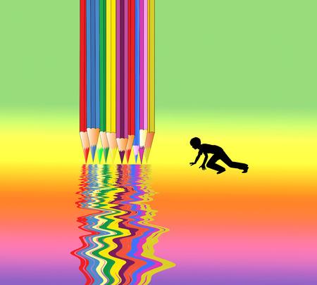 芸術に子供たちをご紹介します。幼児教育における自己探求によって芸術作品に興奮取得する子