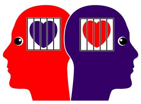 adentro y afuera: Ocultos Amor Gay secreto. Dos hombres en el amor y el miedo de salir
