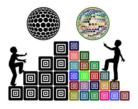 psicologia infantil: Diferentes métodos de enseñanza. Comparación entre una lección aburrida y emocionante en la escuela Foto de archivo