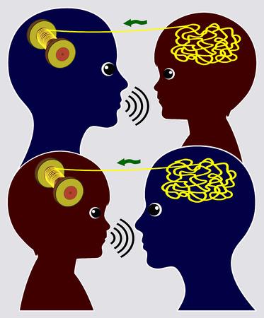 psicologia infantil: Aprender unos de otros. La madre y el niño se apoyan mutuamente en la solución de problemas