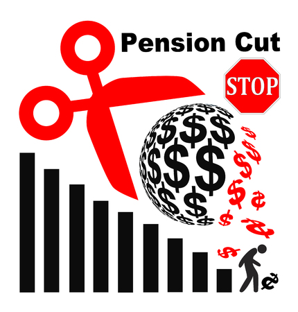 pension cuts: Stop Pension Cuts. Appeal not to lower the retirement benefits for retirees
