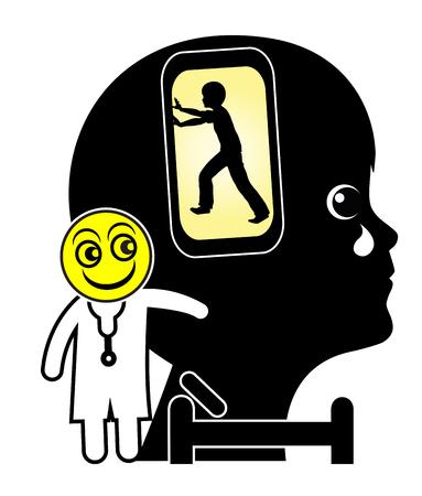 psicologia infantil: Niño con la adicción del teléfono celular. Niño necesita terapia ya que es dependiente de su teléfono inteligente Foto de archivo