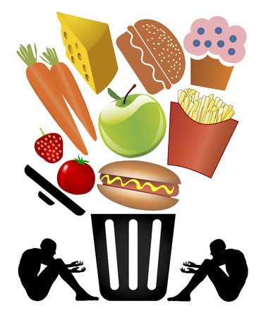 Food Waste and Poverty. People suffer from starvation while one third of all food is wasted.