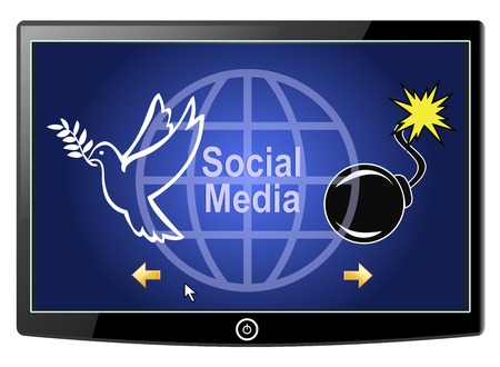 chose: Social Media Peace or War. There are positive and negative effects of social networks, from peacebuilding to cyber warfare