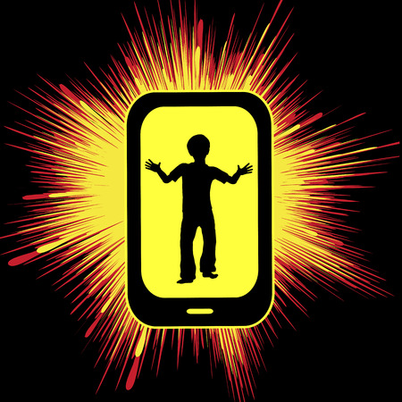 overuse: Smartphone overuse hurting kids. Addiction and digital burnout through mobile devices