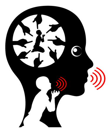 psicologia infantil: Ansioso niño interno. trastorno de ansiedad en la edad adulta se remonta a la educación infantil