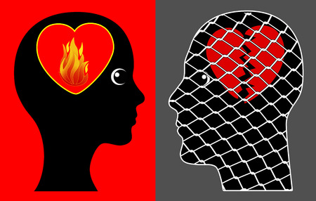 possessive: Women who love too much. Possessive spouse kills the love of her husband Stock Photo