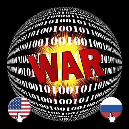 Cyberwar between USA and Russia. Future was between America and Russia on the internet