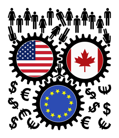 exploited: Fears over TTIP and CETA. People object the trade agreement between the US, Canada and the European Union since they fear of getting exploited