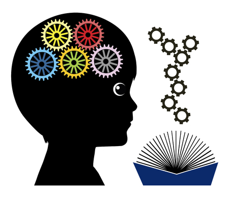 pedagogy: Reading makes kids smarter. Books help to develop the brain in early childhood education