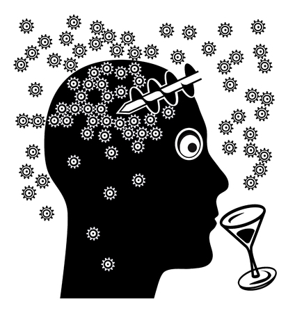 brain damage: Alcohol and Brain Damage. Alcoholic drinks affect the ability to think