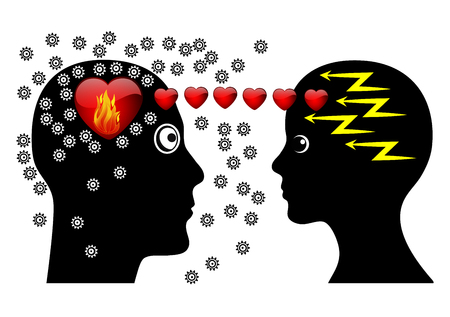 love at first sight: Love at First Sight. Attraction at first seeing makes couple brainless