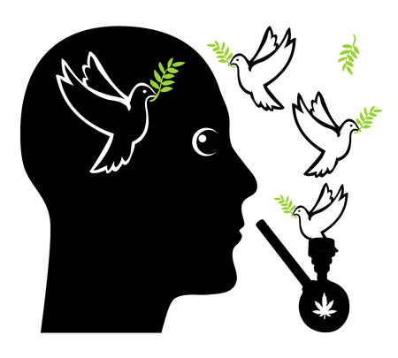 supposed: Peace with in Mind pot. Marijuana is supposed to make a person more peaceful