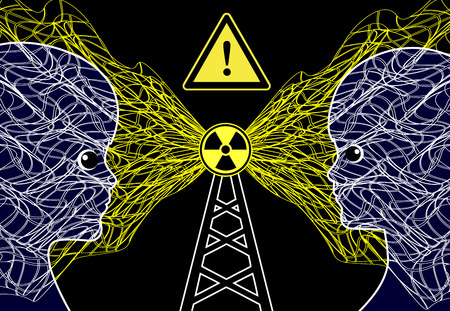 Transmission Masts and Health Risk. The radiation of cellular phone or radio towers can harm children Фото со стока - 71172964