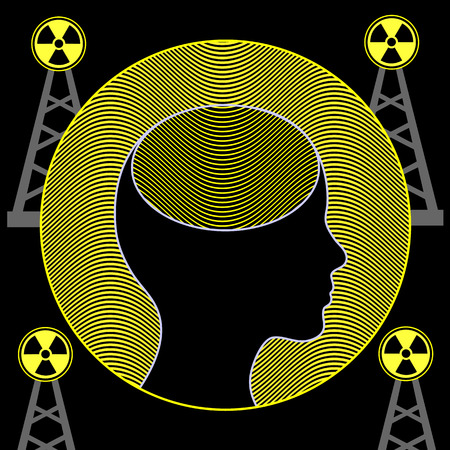 brainwaves: Radiation and Human Brain. Electromagnetic waves of mobile towers influence the function of the brain