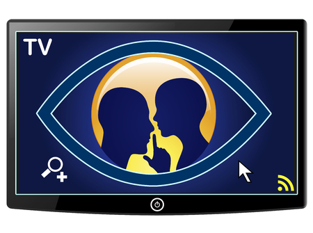 Smart TV Spy on Privacy. New television sets can collect private data and make camera recordings without the knowledge of users