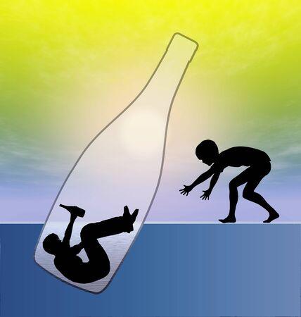 子供のアルコール性親に罪悪感します。子供のトラウマのアルコール中毒の父を持つ彼は飲むことから止めることはできません。