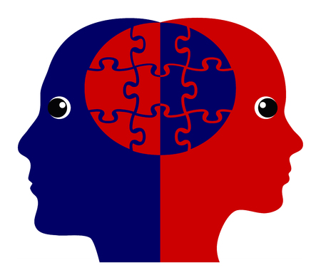 Building Rapport Concept. Two people creating a positive emotional connection Standard-Bild