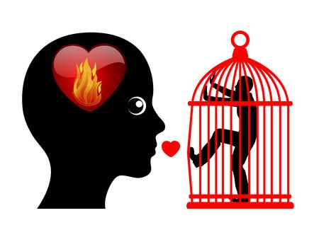 celos: Cónyuge celoso posesivo. Mujer paranoica con el miedo a la pérdida