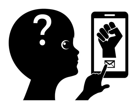 Cyberbullying and Smartphones. Kids are threatened by aggressive messages via cellphones
